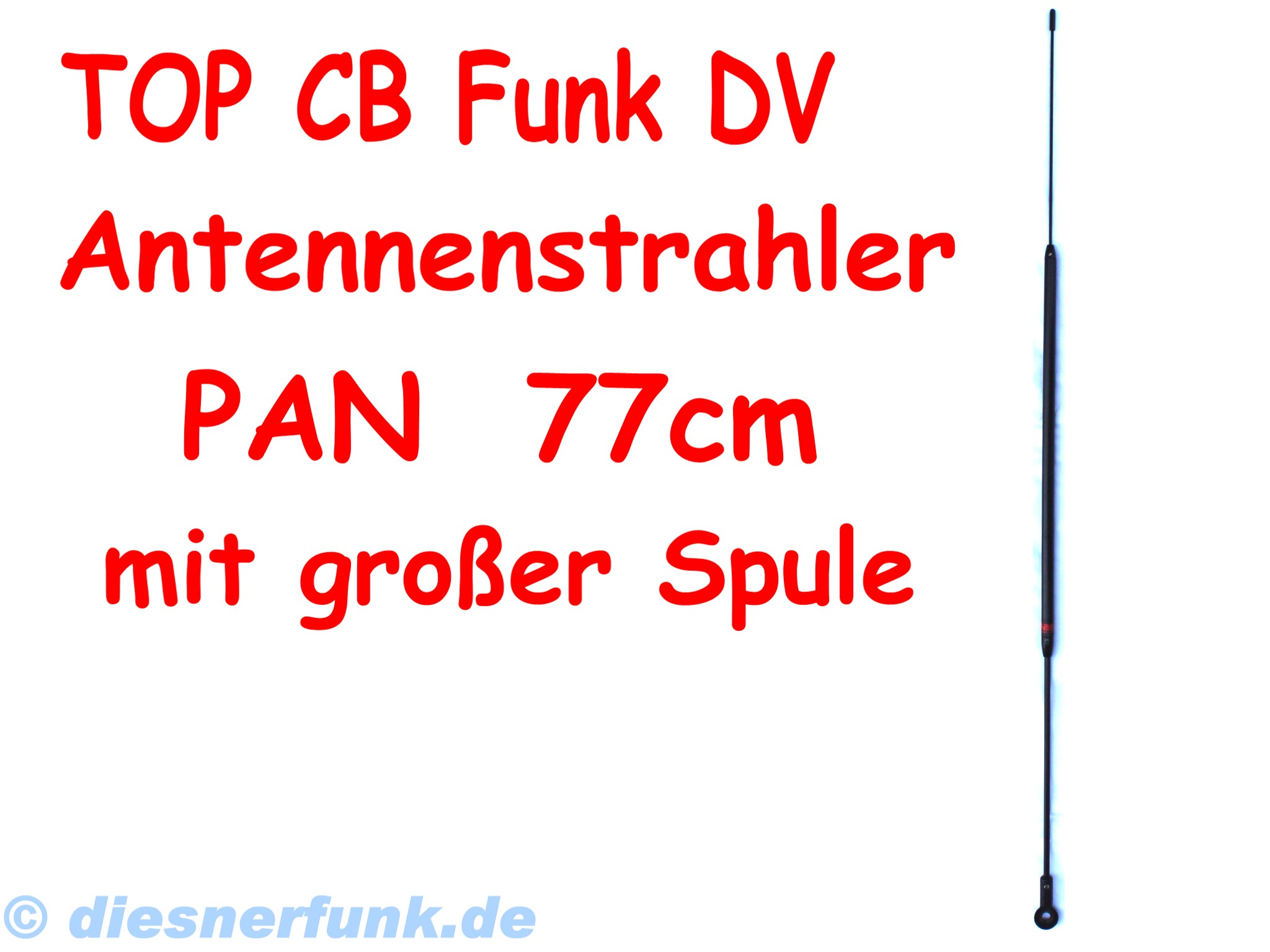 cb funk antennenstrahler pan 77cm mittelspule lkw actros. Black Bedroom Furniture Sets. Home Design Ideas