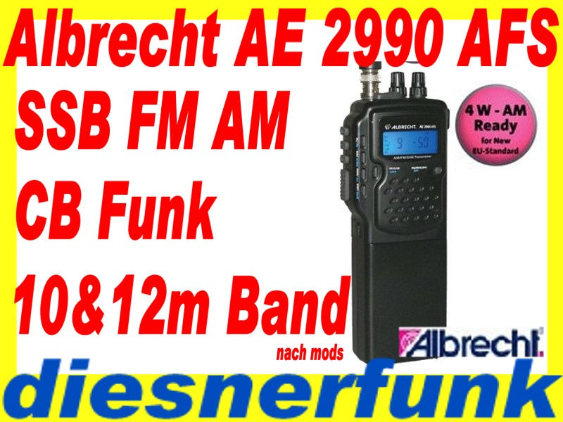 albrecht ae 2990 afs am fm ssb handfunkger t cb funk. Black Bedroom Furniture Sets. Home Design Ideas