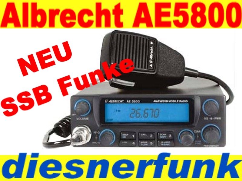 cb funk albrecht ae 5800 ssb power wie ae 485 s ae5800 ebay. Black Bedroom Furniture Sets. Home Design Ideas