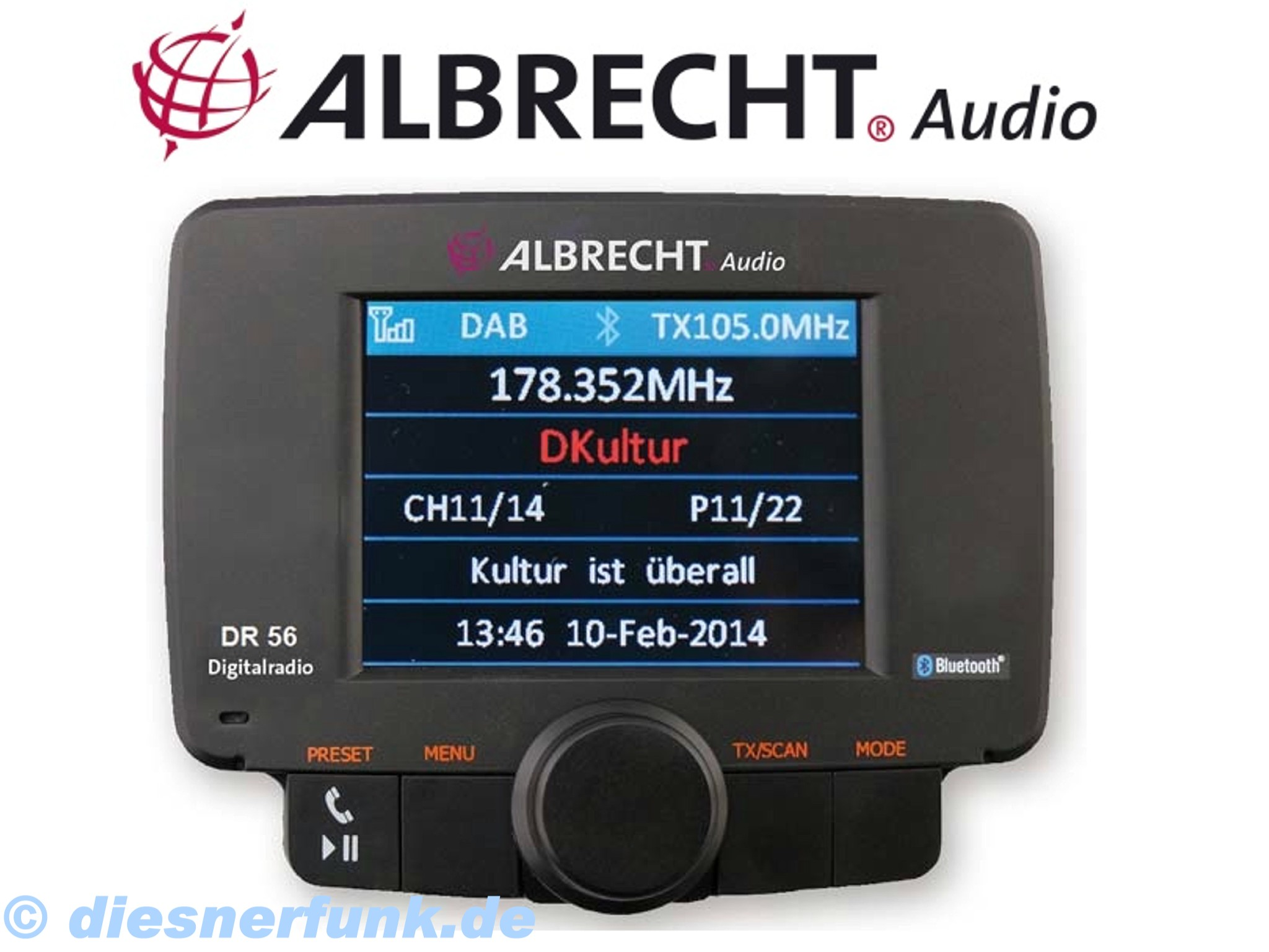 albrecht dr 56 autoradio dab adapter bluetooth. Black Bedroom Furniture Sets. Home Design Ideas
