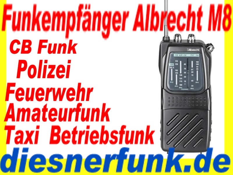 funk empf nger polizeifunk feuerwehr taxi cbfunk bos funk albrecht aircontrol m8 ebay. Black Bedroom Furniture Sets. Home Design Ideas