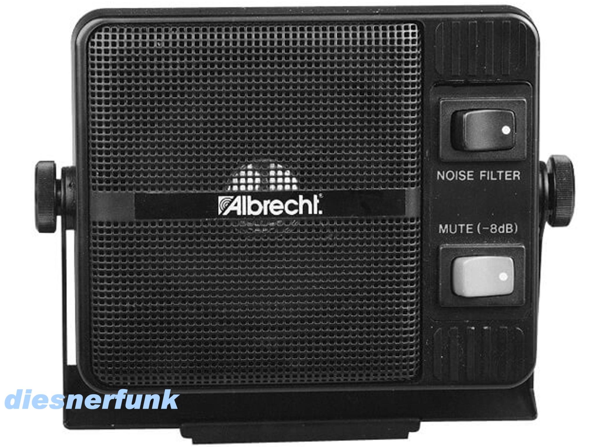 CB FUNK LAUTSPRECHER ALBRECHT CB 20 Mit Geräuschfilter Und