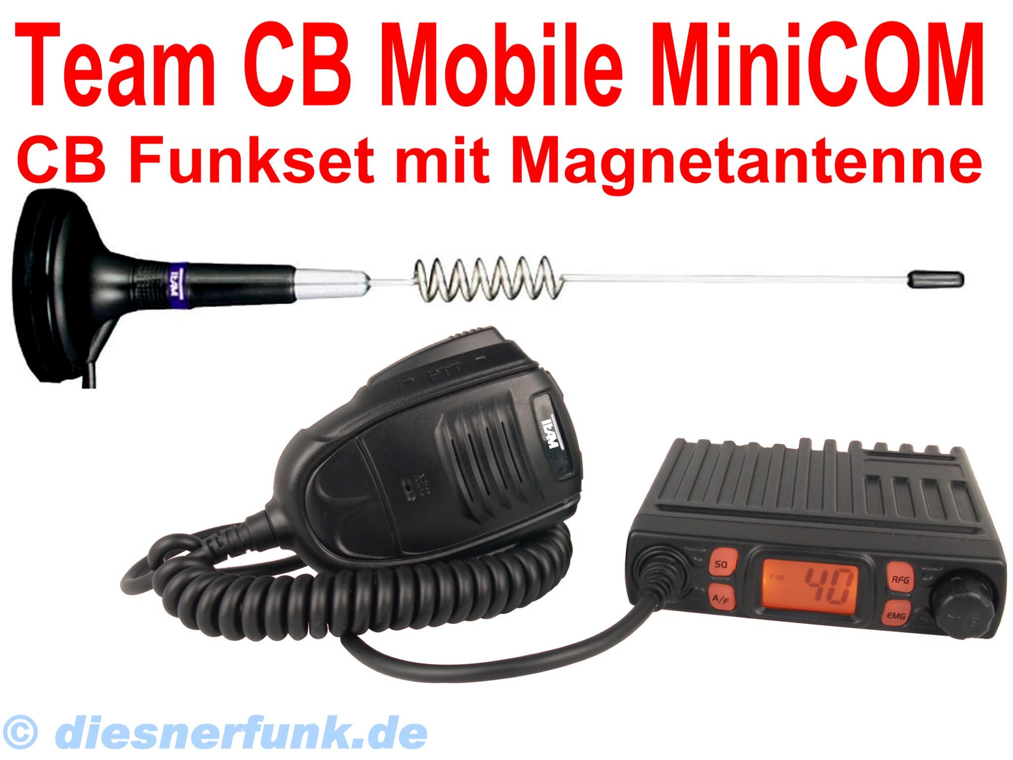 team cb mobile minicom micro cb funk set 4w am fm. Black Bedroom Furniture Sets. Home Design Ideas