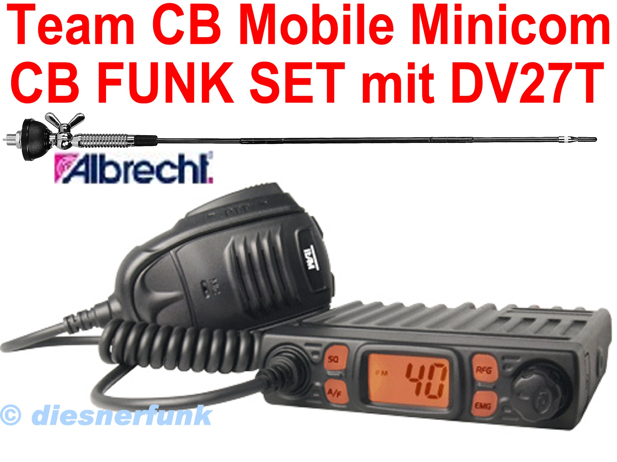 team cb mobile minicom micro cb funk set 4w am fm dv27 t antenne giftzwerg ebay. Black Bedroom Furniture Sets. Home Design Ideas