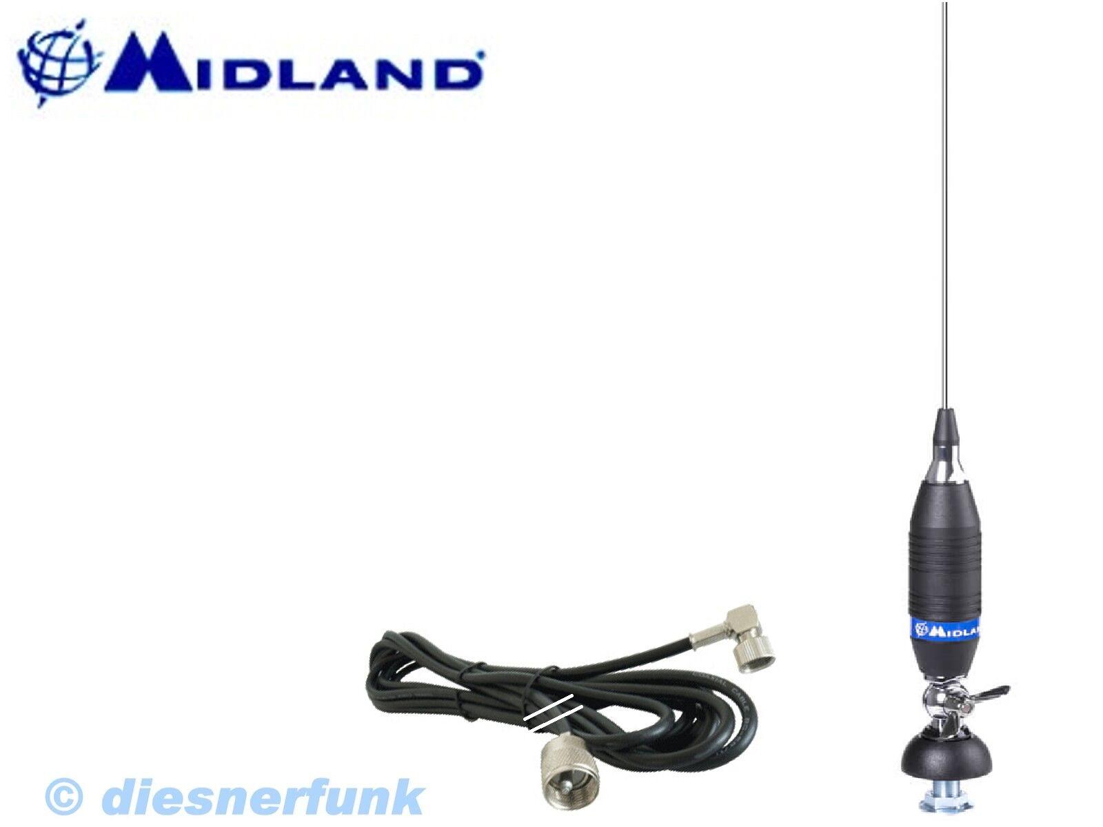 cb funk antenne top midland alan funk 150 200watt 150cm. Black Bedroom Furniture Sets. Home Design Ideas
