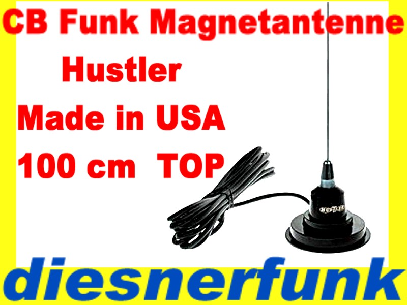 cb funk magnet antenne hustler usa 107cm wilson cbfunk ebay. Black Bedroom Furniture Sets. Home Design Ideas