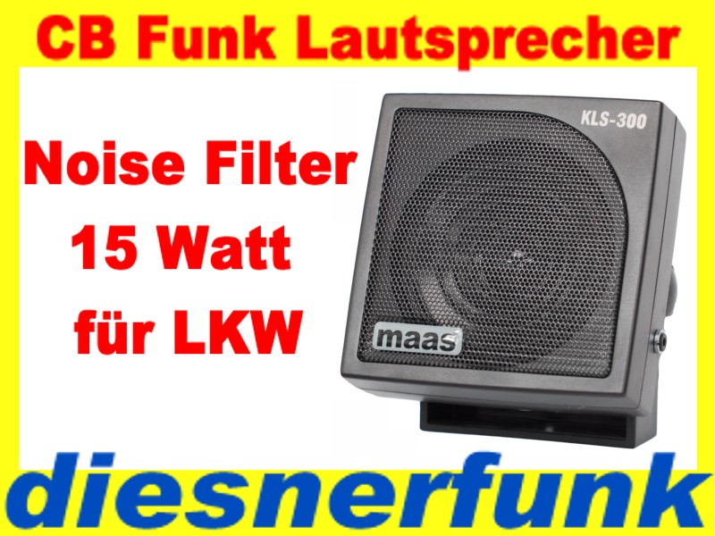 cb funk lautsprecher kls 300 profi 15 watt mit ger uschfiter kopfh reranschlu ebay. Black Bedroom Furniture Sets. Home Design Ideas
