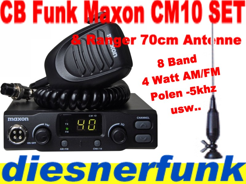 cb funk set maxon cm10 4w am antenne 70cm dv actros ebay. Black Bedroom Furniture Sets. Home Design Ideas