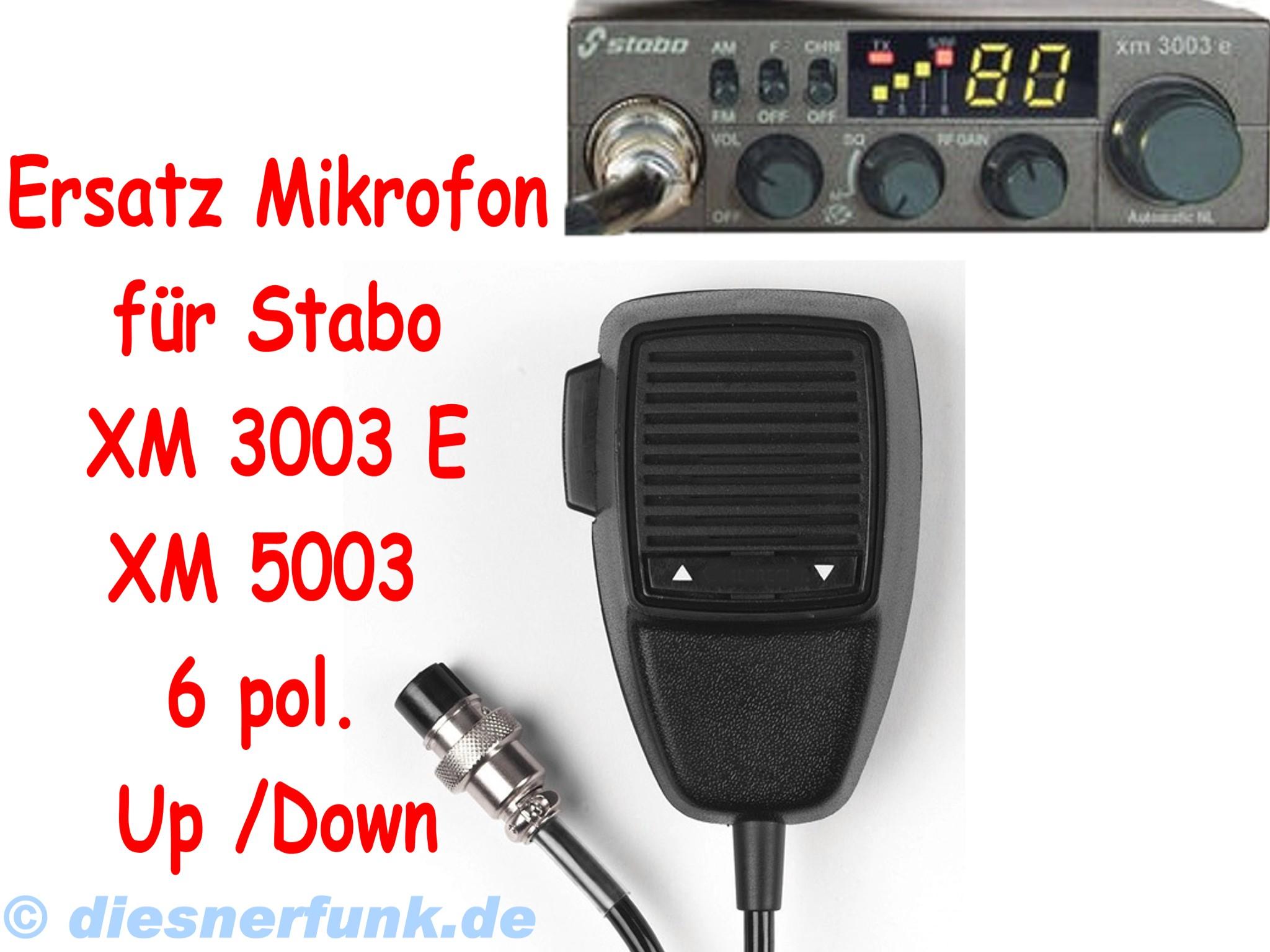 CB FUNK Ersatz Mikrofon für STABO XM 3003 XM3003E XM 5003 6pol ...