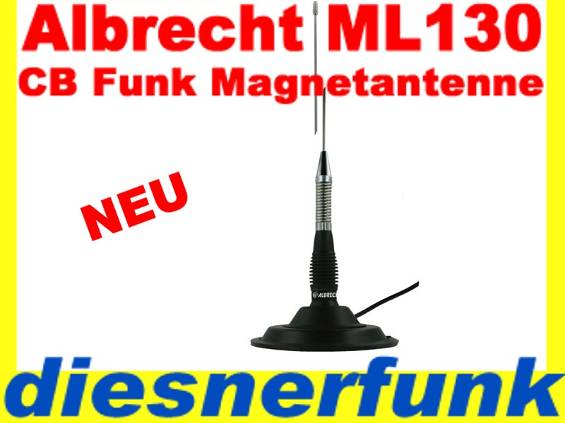 cb funk magnet antenne albrecht ml130 magnetantenne ebay. Black Bedroom Furniture Sets. Home Design Ideas