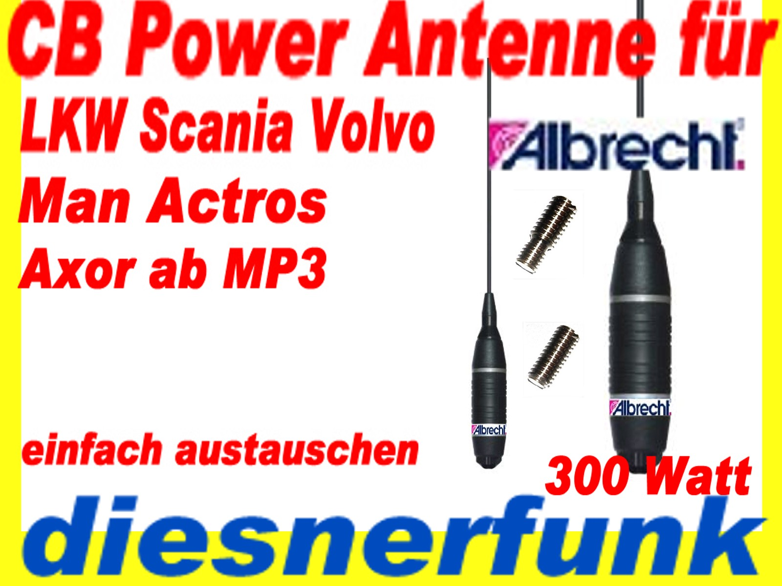 cb funk antenne ninja 27 m6 f r lkw scania volvo axor. Black Bedroom Furniture Sets. Home Design Ideas