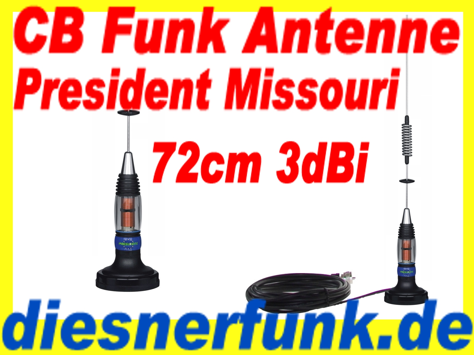 cb funk magnet antenne president missouri 3dbi 72cm top f r lkw actros volvo ebay. Black Bedroom Furniture Sets. Home Design Ideas