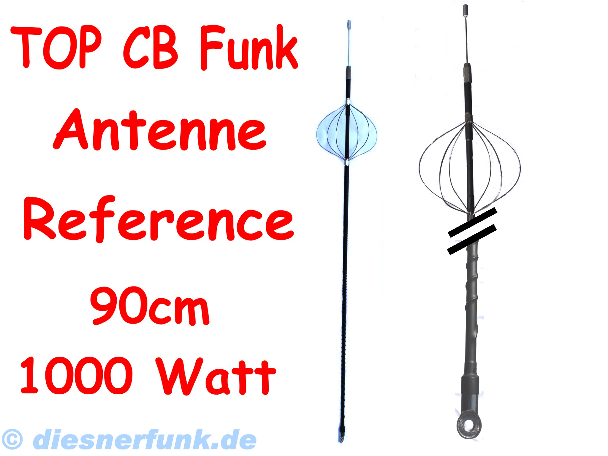 cb funk dv 27 antennenstrahler albrecht 90cm 1000watt top. Black Bedroom Furniture Sets. Home Design Ideas