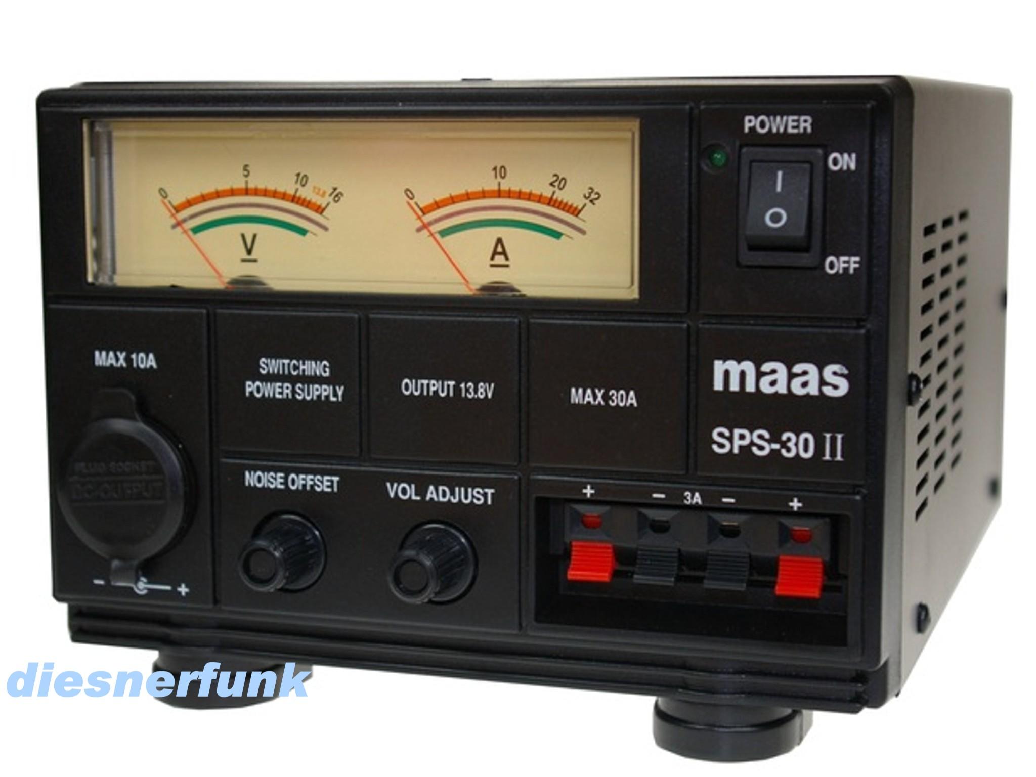 CB Funk & Amateurfunk Schaltnetzteil 9-15 Volt DC 30 Ampere MAAS SPS ...