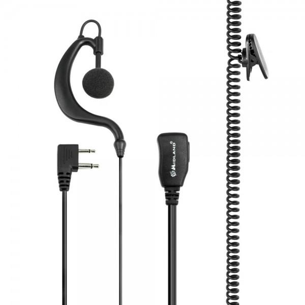A21M Clip-Mikrofon/Ohrhörer S-Norm L-Stecker