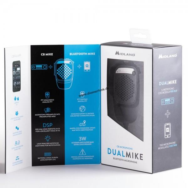 Midland Dual Mike Bluetooth 6pol für opt. APP CBTalk