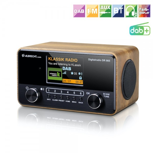 Albrecht DR 865 Seniorenradio DAB+ UKW Mega Display