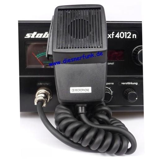 CB Funk Mikrofon Ersatz für Stabo mit 4Pol Stecker der alten XF XM Serie