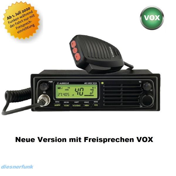 Albrecht AE 6491 VOX mit Freisprechfunktion CB Funkgerät DIN