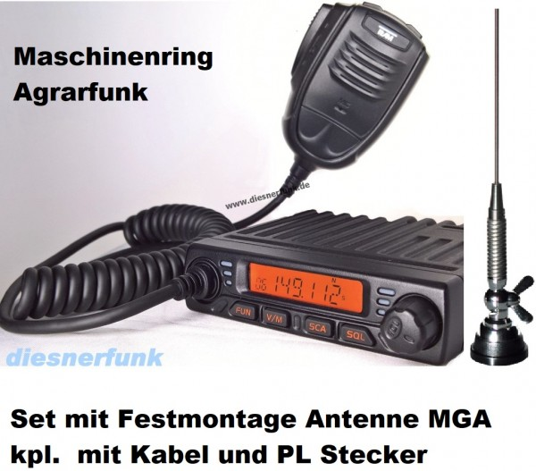 Team MiCo Agrarfunkgerät Maschinenring VHF mit MGA Antenne