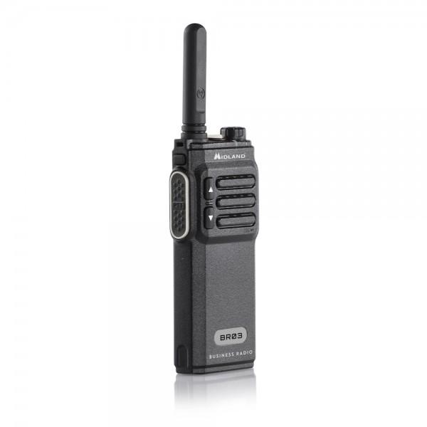 Midland BR03 Business Radio PMR Funkgerät Standlader Akkupack