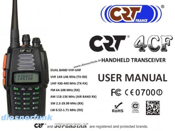 CRT 4CF VHF/UHF-Handfunkgerät mit AM Flugfunk- und Kurzwellen RX