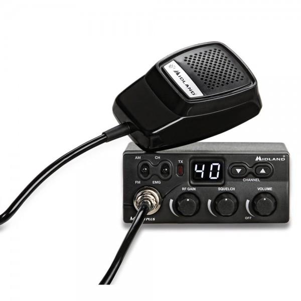 Midland M ZERO PLUS CB-Funkgerät 40K AM/FM Zig. Adapter
