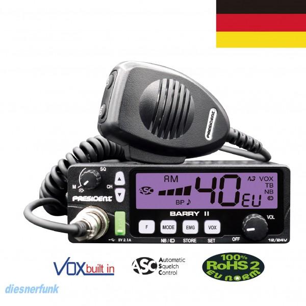 President Barry II VOX AM/FM ASC 12/24 Volt 80 Kanal