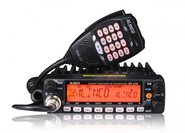 ALINCO DR-638-HE Mobilfunkgerät VHF/UHF 50 Watt