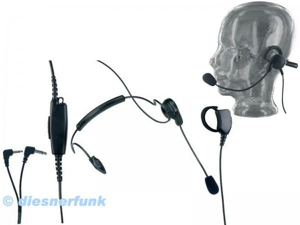 ALBRECHT HS 01 Headset mit Nackenbüge Fingertaster S-Norm