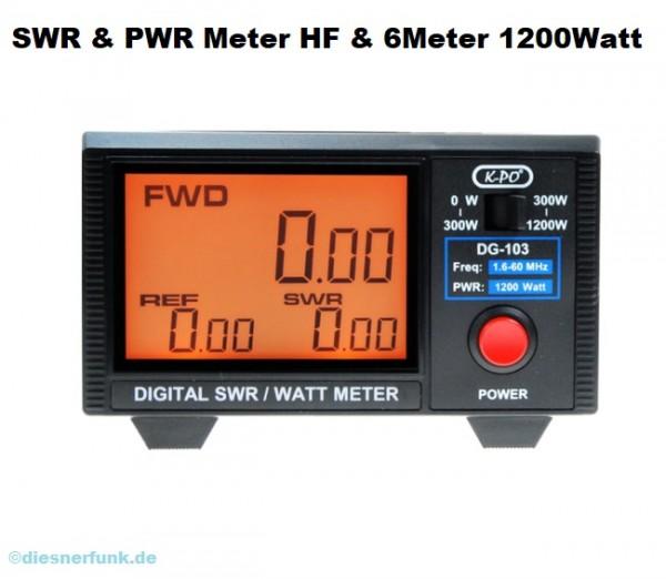 DG-103 SWR- & Power-Meter mit Digitalanzeige