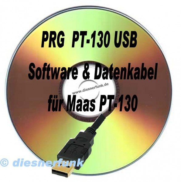 MAAS PRG PT-130 Software CD & Datenkabel MAAS PT-130 dPMR 446