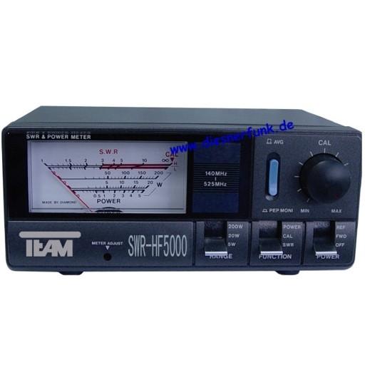 HF 5000 VHF & UHF Stehwellen und Leistungsmessgerät 140-525 MHz