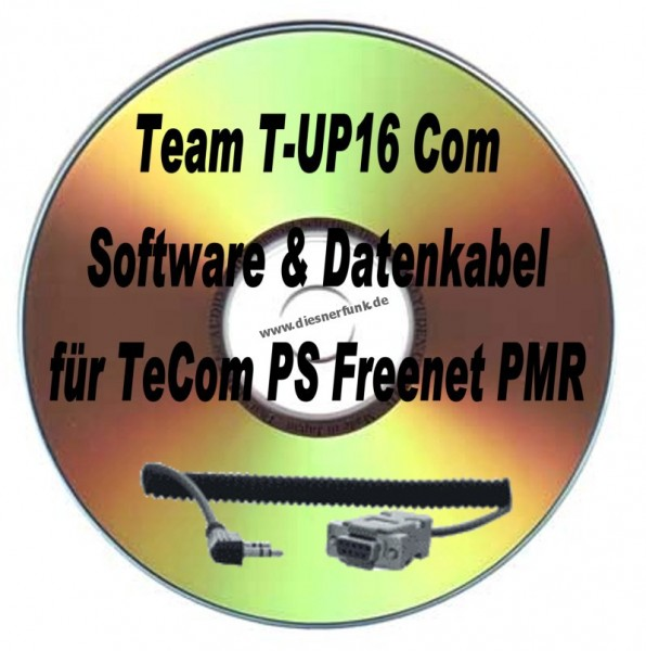 TEAM T-UP16 Com Programmierkabel & Softw TeCom-PS Freenet PMR