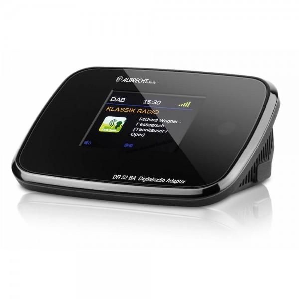 Albrecht DR 52 BA DAB+/UKW-Radio-Adapter mit Bluetooth Farbdisp