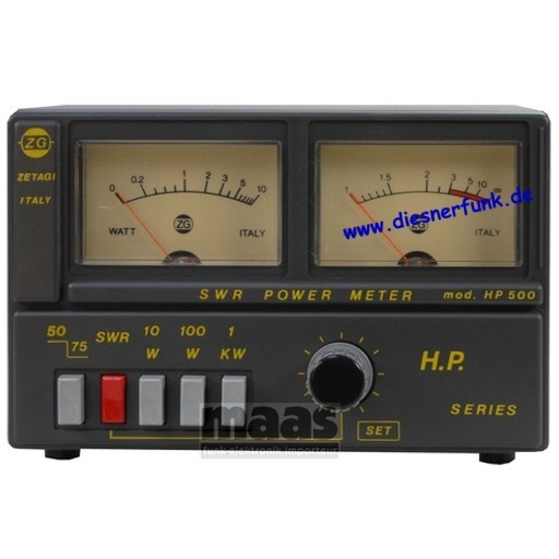 ZETAGI HP 500 SWR-PWR Meter
