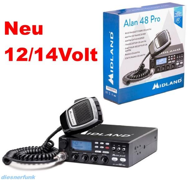 Midland Alan 48 PRO 12/24Volt Multi CB Funkgerät