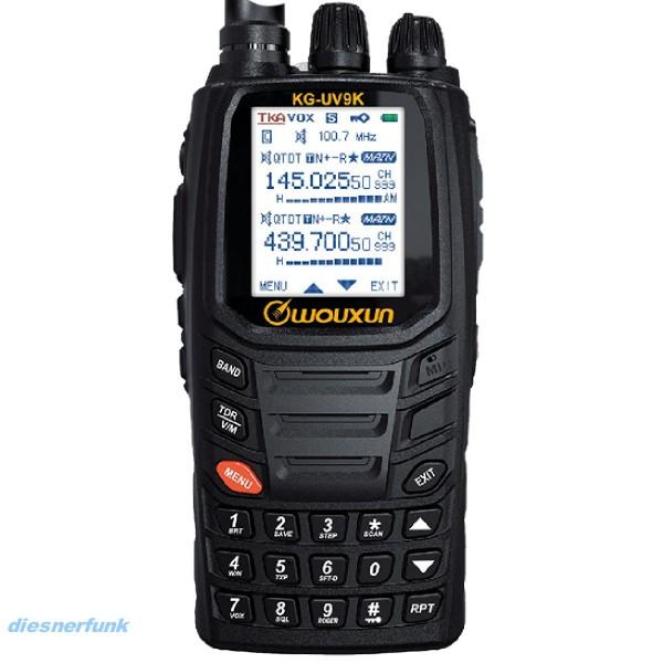 Wouxun KG-UV9K Plus VHF/UHF Crossband Handfunkgerät AIR-RX 76-985Mhz