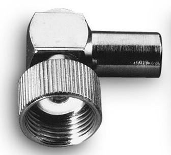 DV Winkel Stecker für DV Fuss alte Norm ohne Stift mit Adapterpin