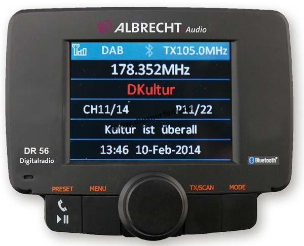 ALBRECHT DR 56 Autoradio DAB+ Adapter Bluetooth Freisprechanlage