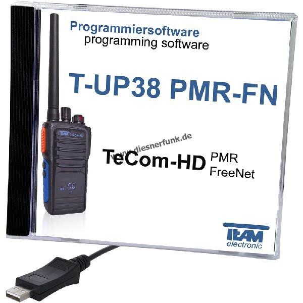 TEAM T-UP38 Programmierkabel & Software für TEAM HD PMR/Freenet