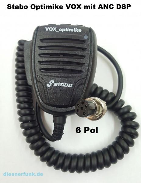 Stabo VOX-Optimike Freisprecheinrichtung mit DSP & ANC für CB-Funkgeräte 6-POL