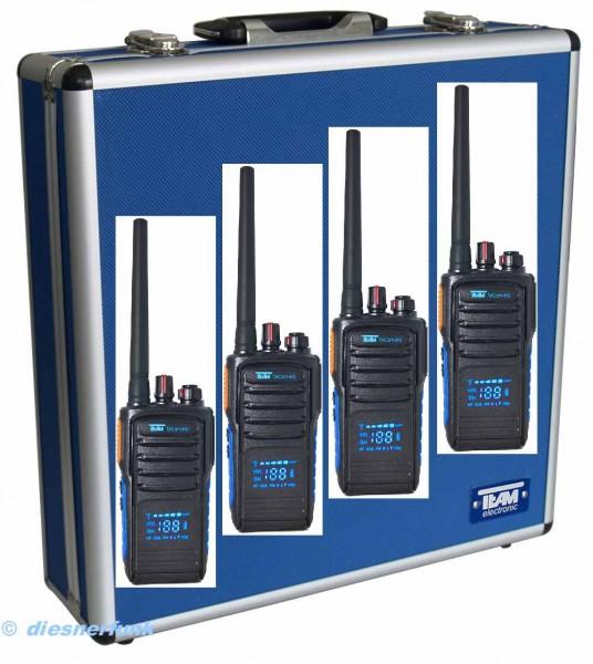 4er Kofferset Team TeCom-HD 16Kanal PMR446 Funkgerät