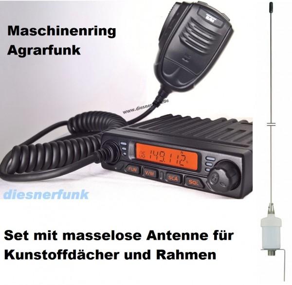 Team MiCo Agrarfunkgerät Maschinenring VHF mit Masselose Antenne