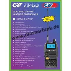 CRT FP 00 Dual Band VHF/UHF Handfunkgerät schwarz