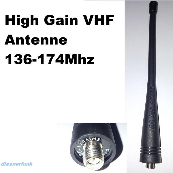 Ersatzantenne VHF 136-174 MHz Handfunkgeräte SMA-Female 17cm
