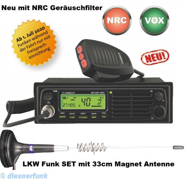 Albrecht AE 6491 NRC VOX CB Funkgerät & 33cm Magnet Antenne
