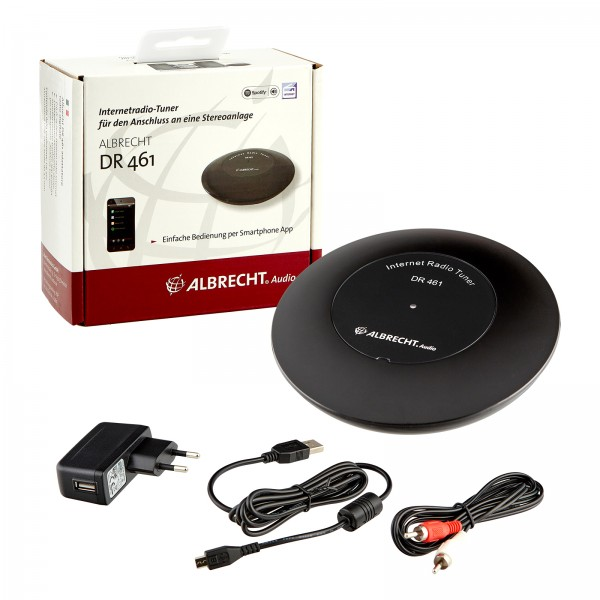 Albrecht DR 461 Mini Internet-Radio Tuner Air Music Control App
