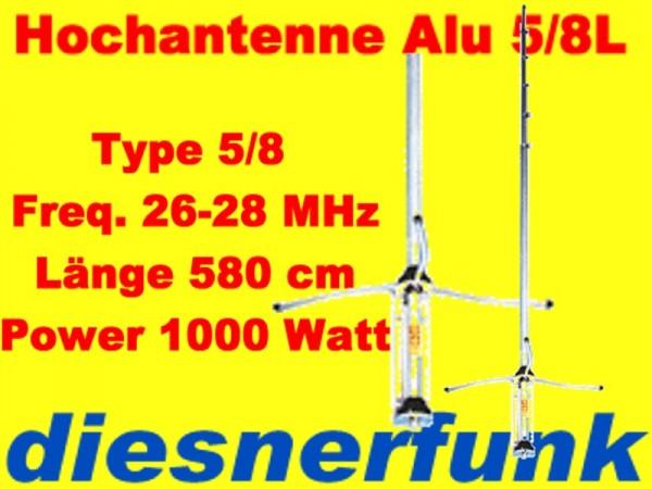 Albrecht Alan GP 27 5/8 5800cm 1000Watt Alu 3 kurze Radiale