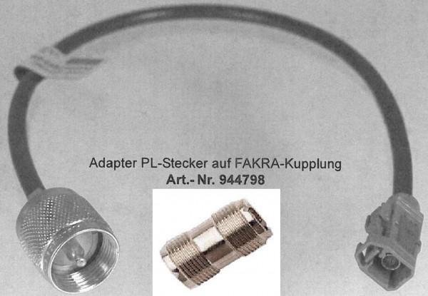 Adapter PL-Stecker auf Fakra-Buchse Mercedes CB an Antenne mit PL